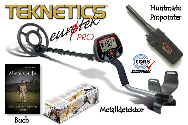 teknetics eurotek pro lte ausr stungspaket i metalldetektor pinpointer black huntmate. Black Bedroom Furniture Sets. Home Design Ideas